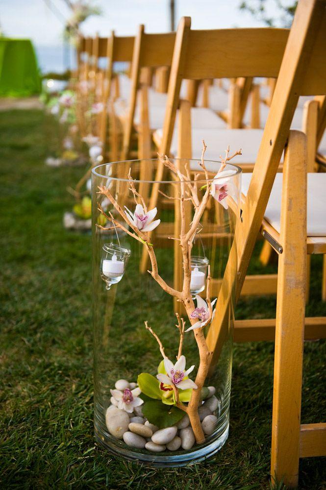 126 best creative seating arrangements images on pinterest for Diy wedding ceremony decoration ideas