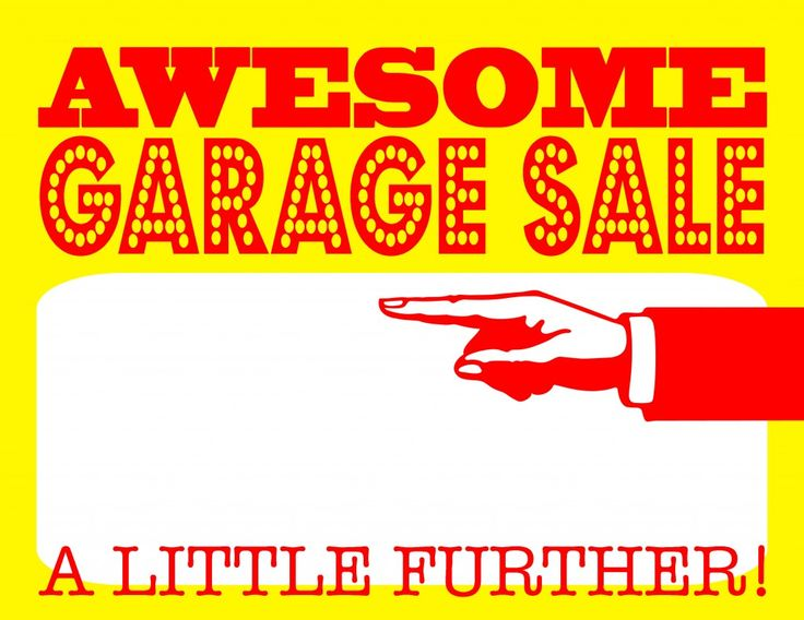 diy printable awesome garage sale signs