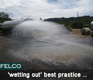 Felco is Manufacturers of #Water #Container #Tanker, Central Highlands Council - 'wetting out' best practice .. http://goo.gl/15Pbn1