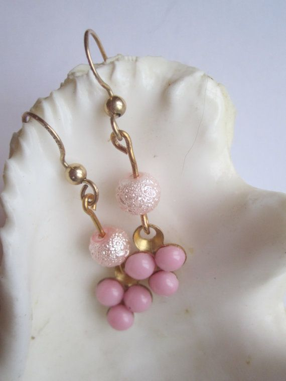 Pink Earrings ./. Small Earrings ./.Romantic by BijouxEmmElle