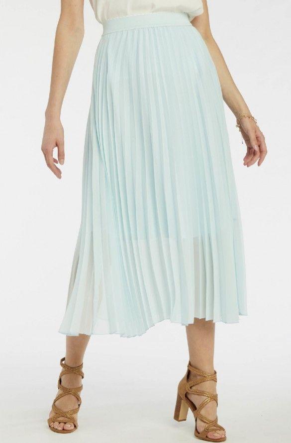518c19c816835a Jupe plissée bleu the - jupes femme - naf naf 2 | dressing en 2019 ...
