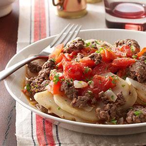 Hamburger Casserole Recipe from Taste of Home -- shared by Helen Carmichall of Santee, California
