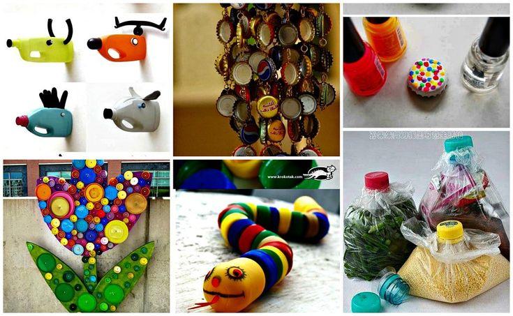 Ideas llenas de creatividad para reciclar tapas reciclado pet pinterest tapas reciclado - Que manualidades puedo hacer ...
