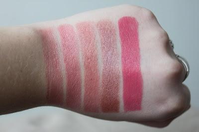 Renates sminkeeldorado: Swatches: Mine leppestifter fra MAC