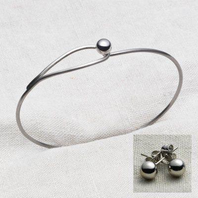 Yggdrasil - Armband + Örhängen Blankt Stål