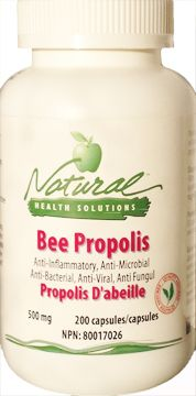 Bee Propolis - is rich in flavonoids, amino acids, vitamins and minerals. Propolis can be used for treating recurrent aphthous stomatitis. It has antibacterial properties and helps to protect from neuronal damage. Each capsule provides 500 mg of BP and there are 200 capsules in each bottle. www.mynaturalhealthsolutions.com