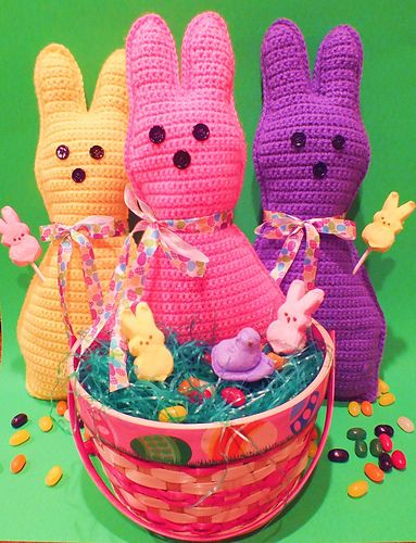 """""""Easter Peep Inspired Pillow/Doll Free Pattern©"""""""
