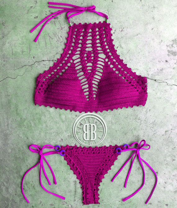 High Tide bikini custom crochet bikini by beijobaby on Etsy