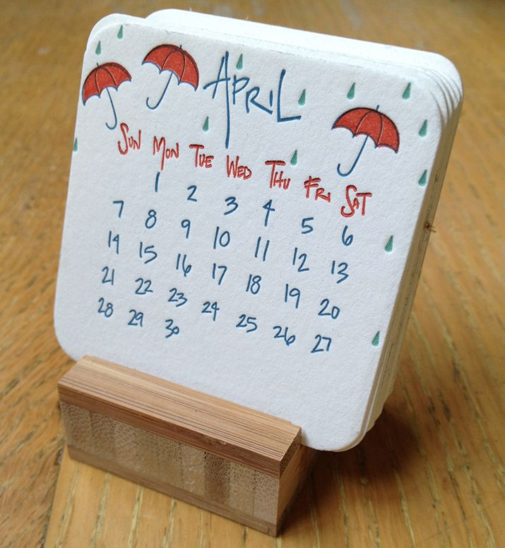 Letterpress desk calendar /  The Beauty of Letterpress: 2013 Mini Desk Calendar
