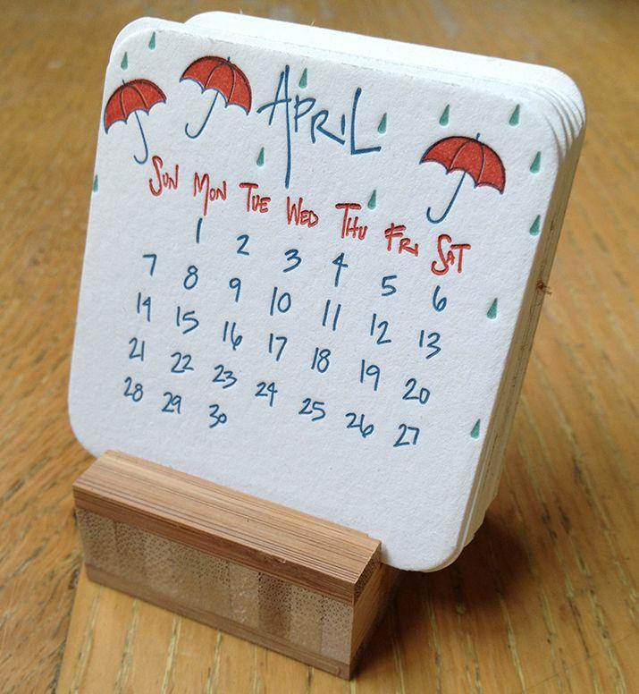 Letterpress desk calendar /  The Beauty of Letterpress: 2013 Mini Desk Calendar