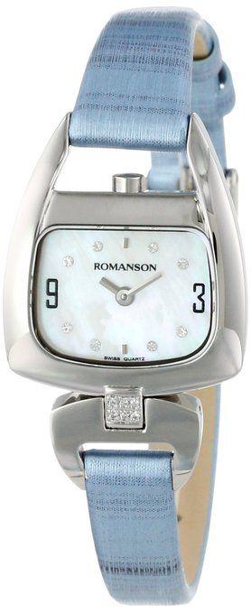 Romanson Women's RN1206QL2WM12W Modern Swiss Quartz Crystal Markers Watch