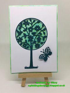 fiddling about: Die cut tree