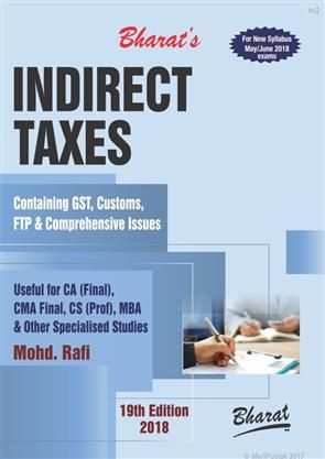 #OrderNow @ www.meripustak.com/pid-149288 Indirect Taxes Containing GST, Customs, FTP & Comprehensive Issues #CAFinal #CMAFinal #CS #MBA #Students #BestOffers #BestDeal #GoodsAndServicesTax #Discount of 12% #FreeShipping #OrderOnline #OnlinePayment, #COD and #ChequePayment #TaxationBooks, #DirectTaxes & #IndirectTaxes, #GSTBooks #Online #Bookstore in #India