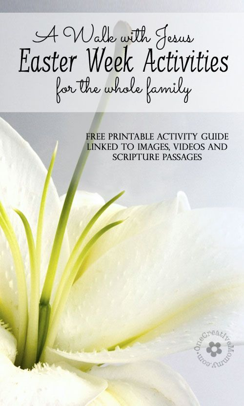 """Create meaningful Easter activities for children of all ages with my Free Printable """"Walk With Jesus Easter Activity Guide"""