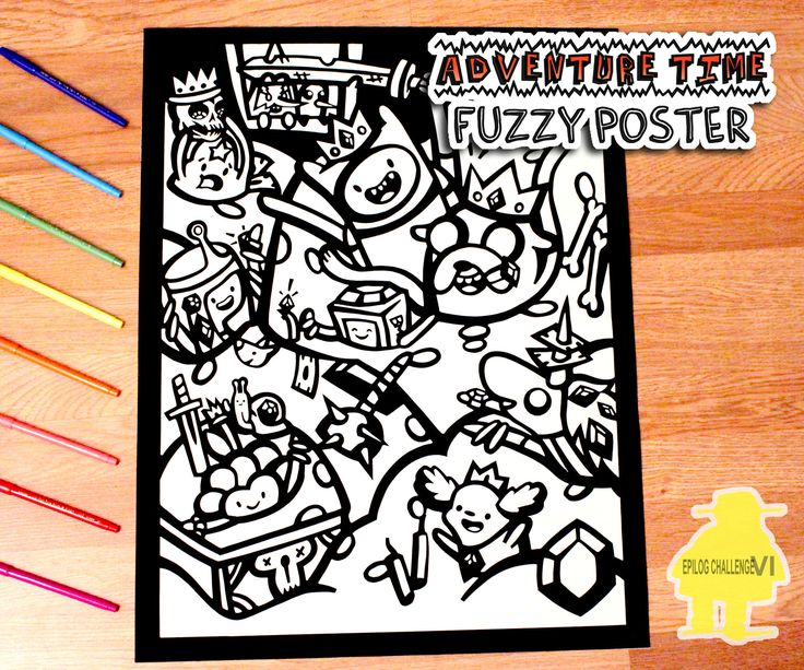 Fuzzy Poster Time!Remember those fuzzy posters that came with markers so you could color them in? Or am I just old? haha : ) They actually still make these but I haven't seen them around too much recently. A while ago I came across some velvet/velour paper and thought it would be fun to make my own fuzzy poster! And even funner to make it Adventure Time Themed! The fuzzy posters you find in stores are made using a flocking method to get that fuzzy texture but the velour paper I used is an…