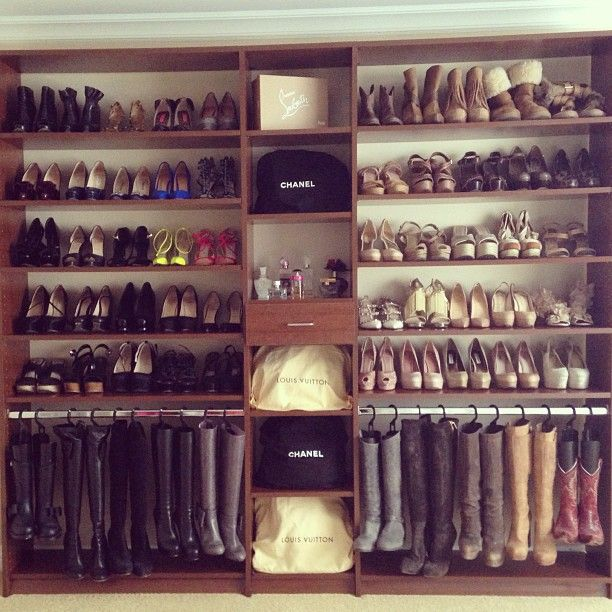 Image result for how to arrange closets for shoes and boots