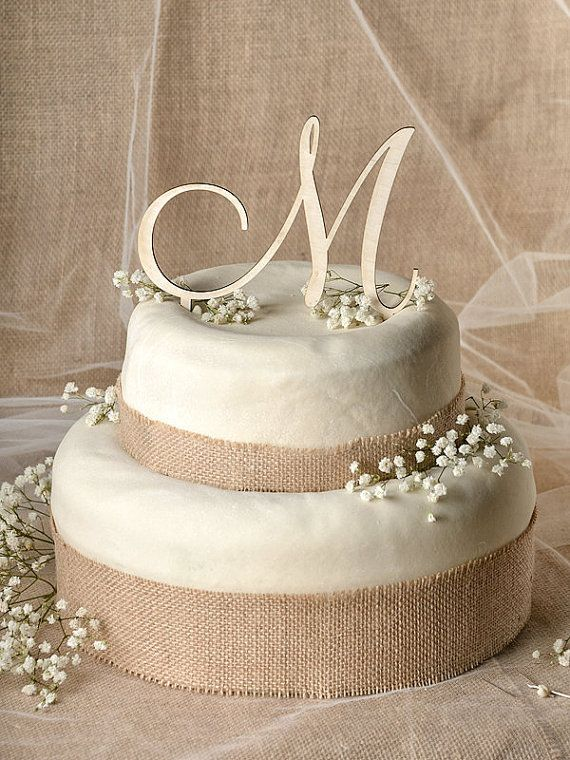Rustic Cake Topper Wood Monogram Wedding Date ToppersMonogram