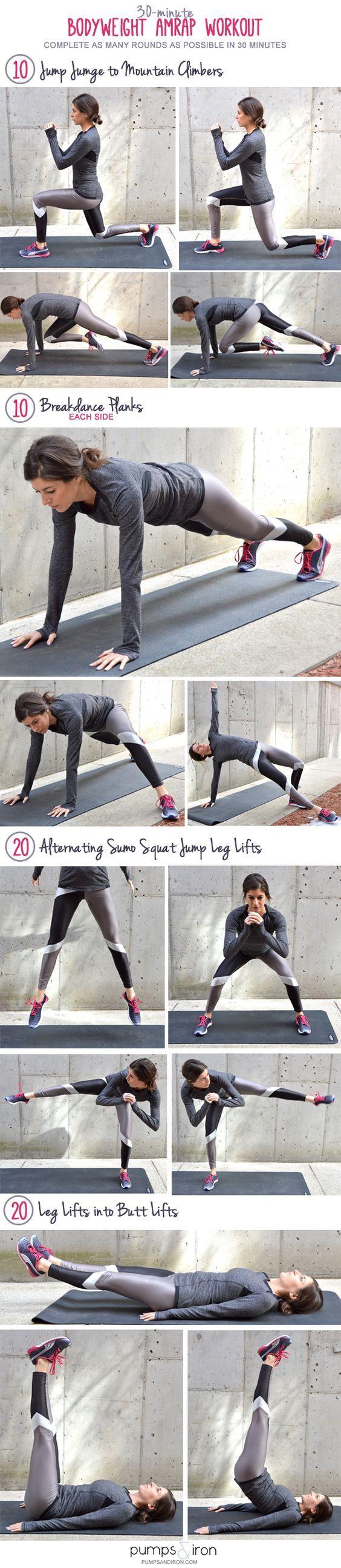 30-Minute Bodyweight #AMRAP Workout: