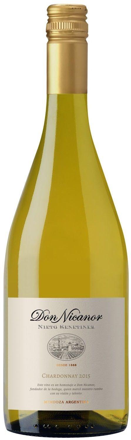 """Don Nicanor"" Chardonnay 2015 - Bodega Nieto Senetiner, Luján de Cuyo, Mendoza--------------Terroir: Valle de Uco---------Crianza:60% del vino con paso por barricas de roble francés"
