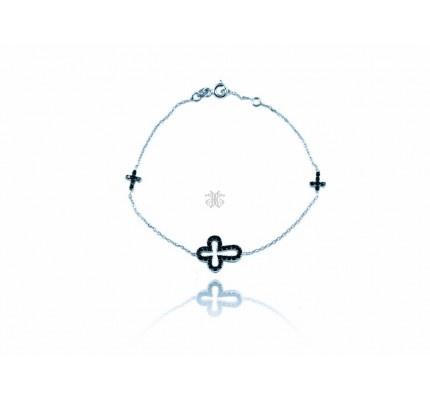 Βραχιόλι λευκόχρυσο με ζιργκόν #bracelet #whitegold #zircon #woman