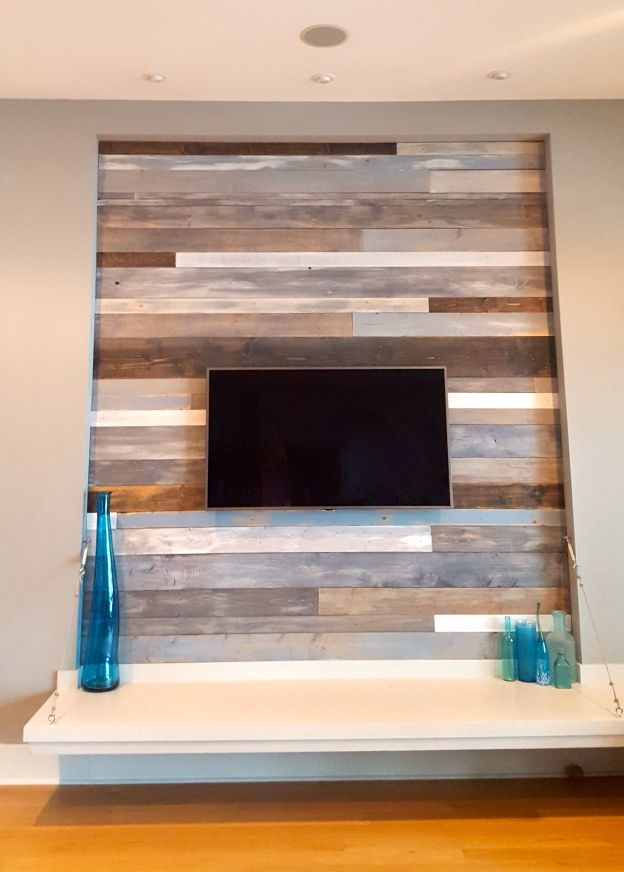 DIY Wood Feature Wall