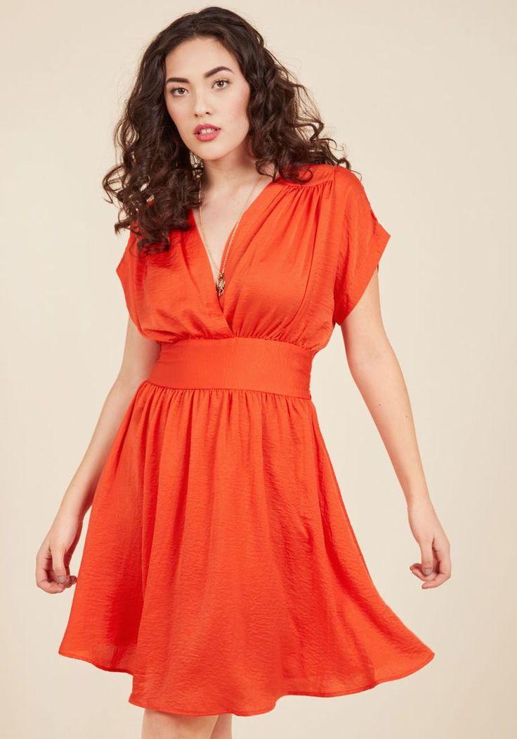 Applauded Accomplishments A-Line Dress in Poppy in 3X - Kimono Slv Sheath Midi