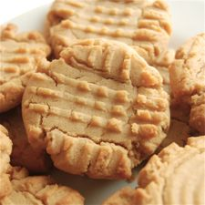 Classic Peanut Butter Cookies - slightly soft and mildly chewy (rather than crunchy), with a satisfying peanut butter taste.