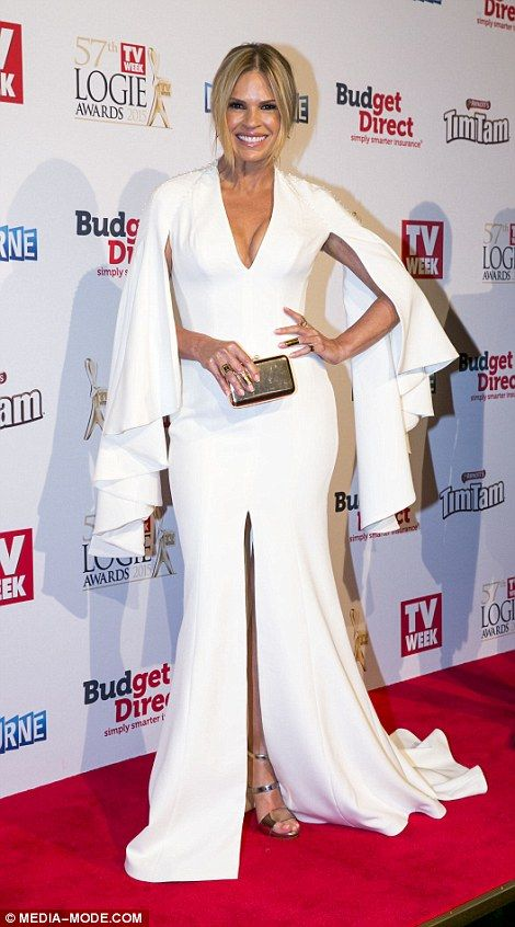 Hot mamma: After giving birth to her first daughter earlier this year, Sonia Kruger steppe...