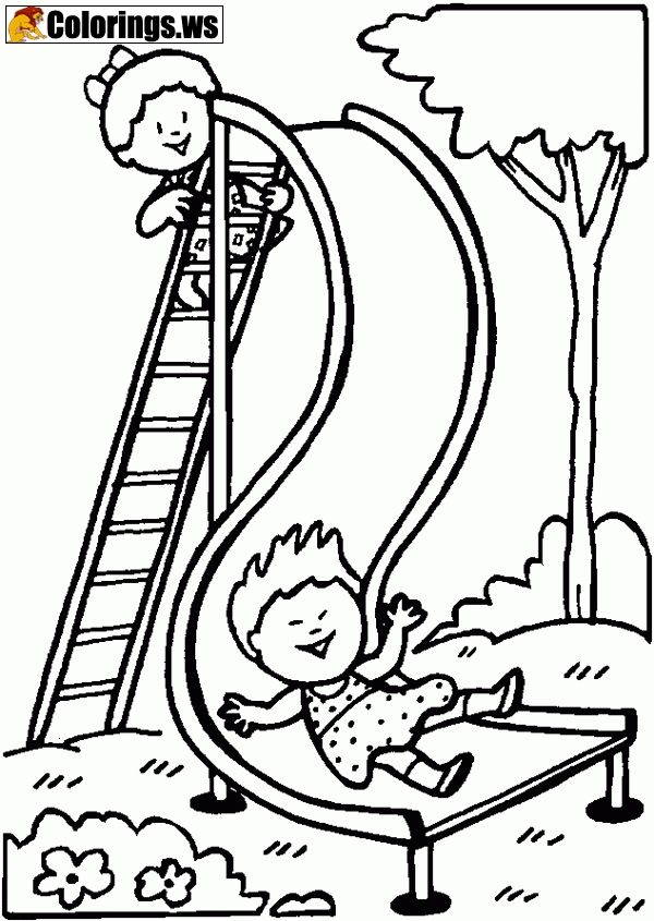 Playground 04 Playground Coloring Pages Best Playground