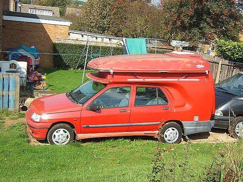 renault clio camper van unusual rvs caravans. Black Bedroom Furniture Sets. Home Design Ideas
