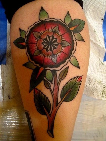 mandala flower of life tattoo that has the look of a medieval ...
