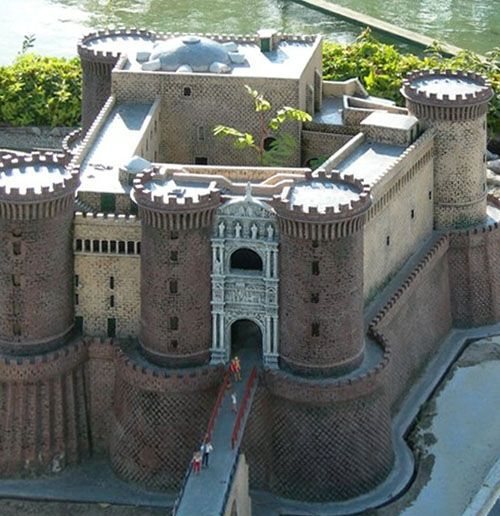 """Castel Nuovo (""""New Castle""""), aka Maschio Angioino,...     Piazza Municipio, Naples, Italy   ....     http://www.castlesandmanorhouses.com/ Castel Nuovo's scenic location and imposing size makes the castle, first erected in 1279, one of the main architectural landmarks of the city."""