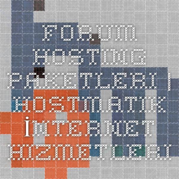 Forum Hosting Paketleri | Hostmatik İnternet Hizmetleri http://www.hostmatik.com.tr/forum_hosting.php