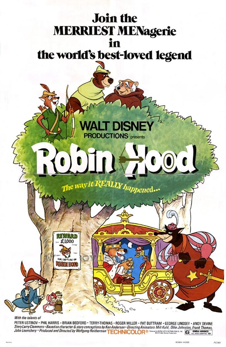 Robin Hood | Disney Classic Posters | Pinterest | Robins ...