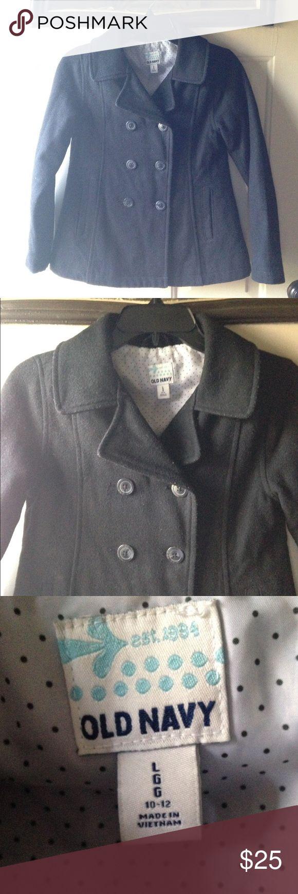 Girls Black Pea coat Jacket | Old Navy | Lg 10-12 Girls Black Pea coat Jacket from Old Navy. Size large (10-12) very good  condition Old Navy Jackets & Coats Pea Coats