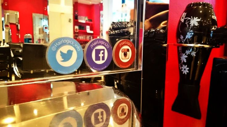 The fantastic team at @hairlogics are now rocking their #mirrortag #socialmedia tags. Who wants some? ✂ #hairsalon #hairdressers #barbershop #socialmediamarketing #mensgrooming #hairdressing #GBHighSt #shoplocal #barbers