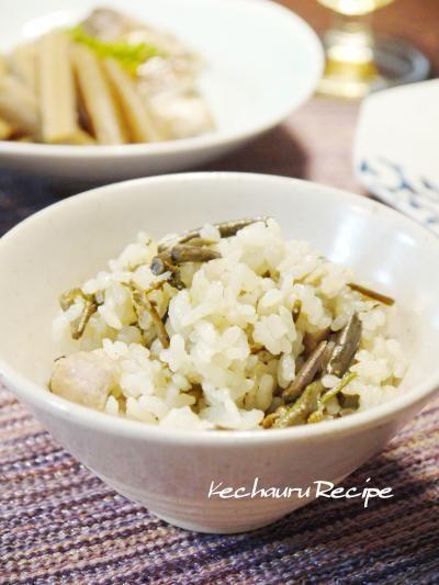 山梨直送の山菜料理色々。『わらびの炊き込みご飯』 by Yoshikoさん ...
