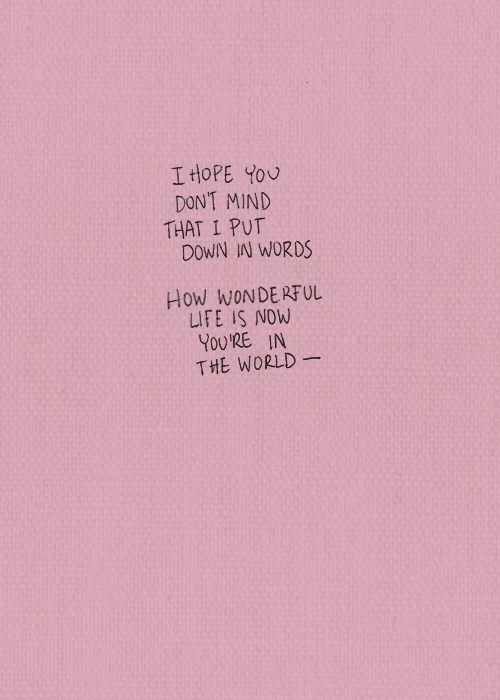 I hope you dont mind
