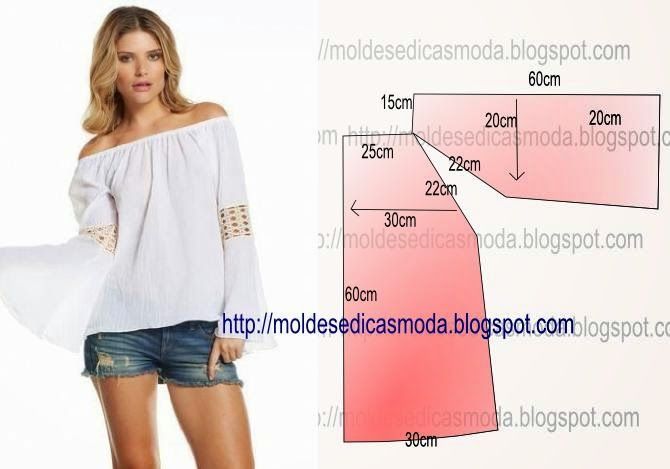 Free Instruction: Moldes Moda por Medida: BLOUSE EASY TO DO - 33