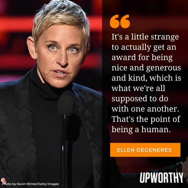 At the Peoples Choice Awards, Ellen DeGeneres gave one moving acceptance speech on the power of kindness.