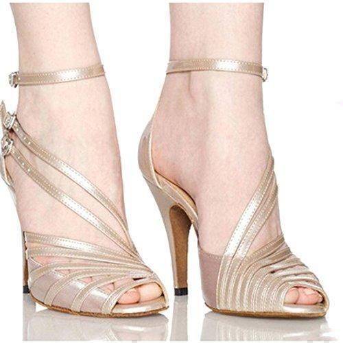 Oferta: 25.55€. Comprar Ofertas de Lan Zapatos de baile para las mujeres suave cómodo atractivo del satén de la salsa del salón de baile del tango latino zapato barato. ¡Mira las ofertas!