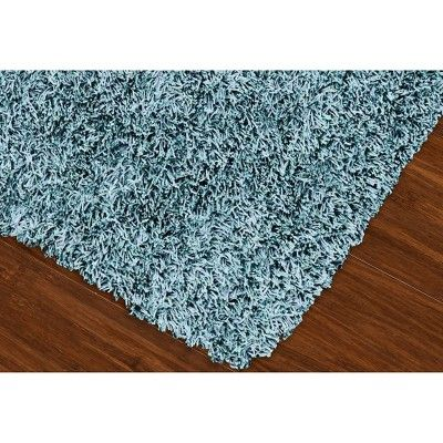 "Lustrous Shoestring Shag Accent Rug - Sky (Blue) (3'6""x5'6"")"
