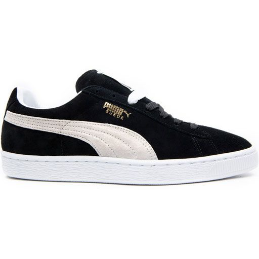 Puma Suede Classic Plus Shoes (Black/White) $46.95