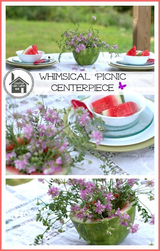 Whimsical Picnic Centerpiece ~ Creative Cain Cabin