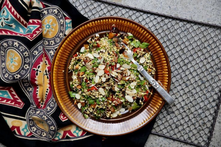 petite kitchen: MOROCCAN SPICED SPROUTED BUCKWHEAT SALAD WITH PRESERVED LEMON & TOASTED ALMONDS