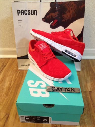 Nike Sb Stefan Janoski Max Red Ebay
