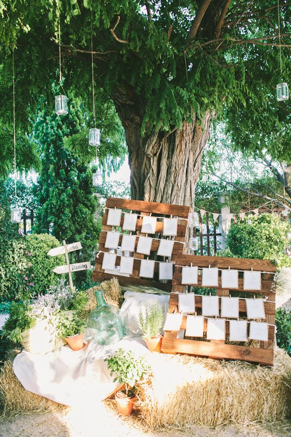 Rustic seating chart with wood pallets | Top 10 Unique Wedding Styling Ideas