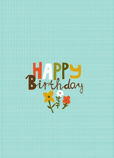CARDS :: NEW! Happy Birthday Blue - Ecojot - eco savvy paper products