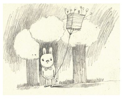 The Kite. Drawing by Cristina Manea. #drawing #drawings #bunny #illustration #rabbit #graphicart #blog #kite