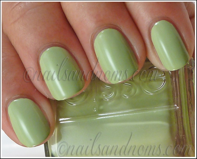 Essie - Navigate Her. Green nails.